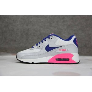 "Кроссовки Nike Air Max 90 ""White/Hyper Blue-Digital Pink"" Арт. 1040 (Уценка)"
