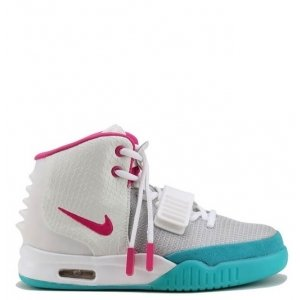 "Кроссовки Nike Air Yeezy 2 ""Rose/White/Green"""