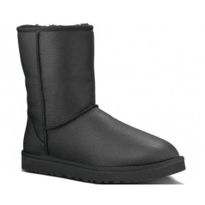 "UGG Classic Short ""Black Leather"" Арт. 1079"