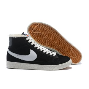 "Кроссовки Nike Blazer High PRM Vintage ""Black/White"" С МЕХОМ Арт. 3644"