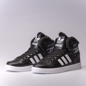 "Кроссовки Adidas Extaball Winter ""Black/White"" С МЕХОМ Арт. 3660"