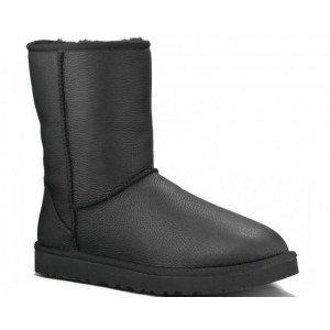 "UGG CLASSIC SHORT LEATHER BOOT ""BLACK"" Арт. 3765"