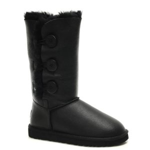 "UGG Bailey Button Triplet Leather ""Black"" Арт. 0368"