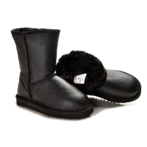 "UGG Classic Short Leather ""Black"" Арт. 1056"
