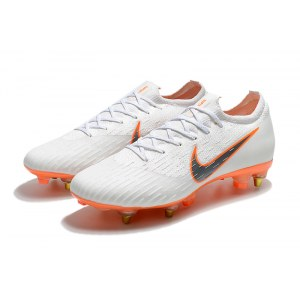 "Футбольные бутсы Nike Mercurial Superfly VI Elite SG ""White/Orange"" Арт. 4061"