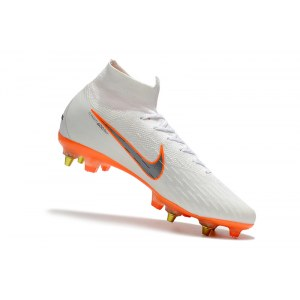 "Футбольные бутсы Nike Mercurial Flyknit Superfly VI Elite SG AC ""White/Orange"" Арт. 4064"