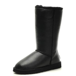 "UGG CLASSIC TALL II BOOT LEATHER ""BLACK"" Арт. 0387"