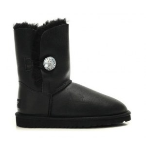 "UGG Bailey Button Bling ""Leather Black"" Арт. 0352"