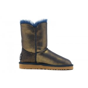 "UGG Bailey Button Bling ""Metallic Blue/Gold"" Арт. 1021"