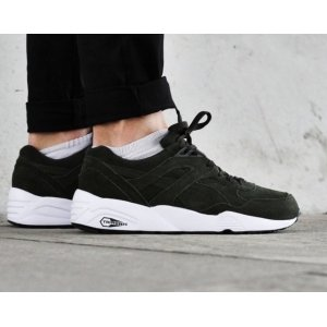 "Кроссовки Puma Trinomic R698 ""Allover Suede Black"""
