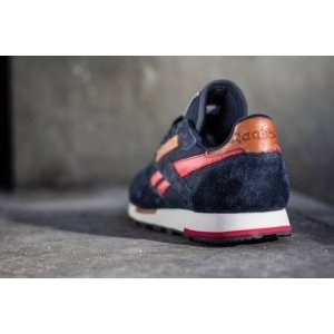 "Кроссовки Reebok CL Leather Utility ""Blue/Red"" Арт. 0346"