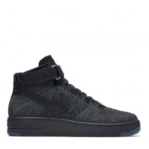 "Кроссовки Nike Air Force 1 Ultra Flyknit Mid ""Dark Grey/Black"" Арт. 1083"