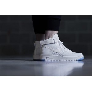 "Кроссовки Nike Air Force 1 Ultra Flyknit Mid ""White"" Арт. 0204"