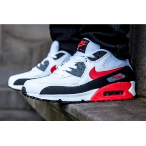 "Кроссовки Nike Air Max 90 ""White/Black/Cool Grey/Challenge Red"""