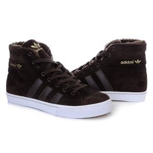 "Кроссовки Adidas AdiTennis High Fur ""Brown"""