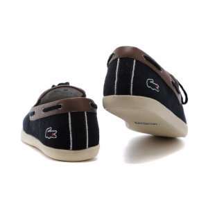 "Мокасины Lacoste Casual ""Black and Coffee"" Арт. 1017"