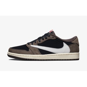 Кроссовки Nike Air Jordan 1 Low Brown Travis Scott